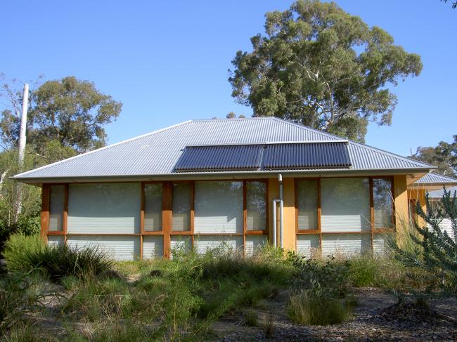 High efficiency solar thermal installation Canberra's Sustainable House