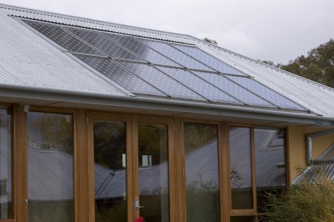 Canberra's Sustainable House Solar Power Station