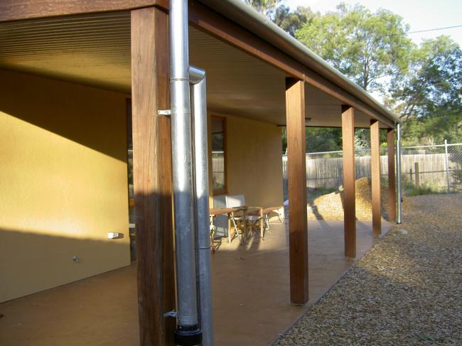 Canberra's Sustainable House - Extensive use of recycled timber
